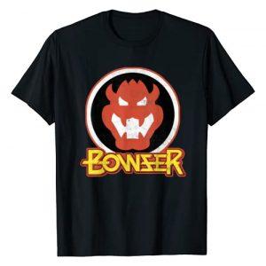 SUPER MARIO Graphic Tshirt 1 Bowser Retro Portrait Graphic T-Shirt