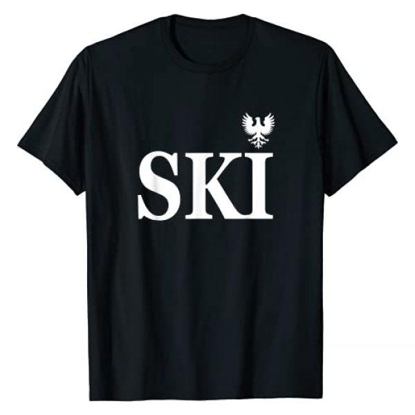"I&M Apparel Co. Polish Graphic Tshirt 1 Polish Heritage ""Ski"" Last name T-Shirt"