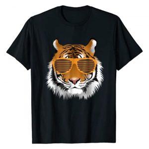 Boys Birthday Shirts Graphic Tshirt 1 Birthday Shirt for Boy Cool Tiger Striped Animal Theme Party