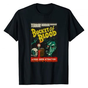 Halloween Vintage Horror Movie Poster Shirt Shop Graphic Tshirt 1 Blood Bucket Classic Halloween Monster Poster Horror Movie T-Shirt