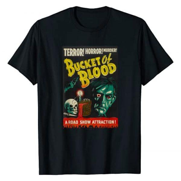 Halloween Vintage Horror Movie Poster Shirt Shop Graphic Tshirt 1 Blood Bucket Classic Halloween Monster Poster Horror Movie T-Shirt
