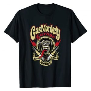 Gas Monkey Garage Graphic Tshirt 1 Blood Sweat And Beers Gear Spark Plus Logo T-Shirt