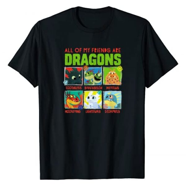 DreamWorks How to Train Your Dragon Graphic Tshirt 1 How To Train Your Dragon 3 Hidden World Dragon Friends T-Shirt
