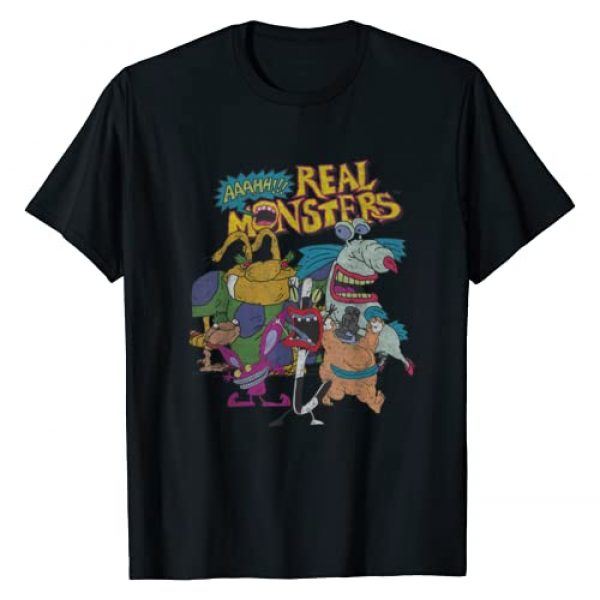 Nickelodeon Graphic Tshirt 1 Aaahh!!! Real Monsters All Characters T-Shirt