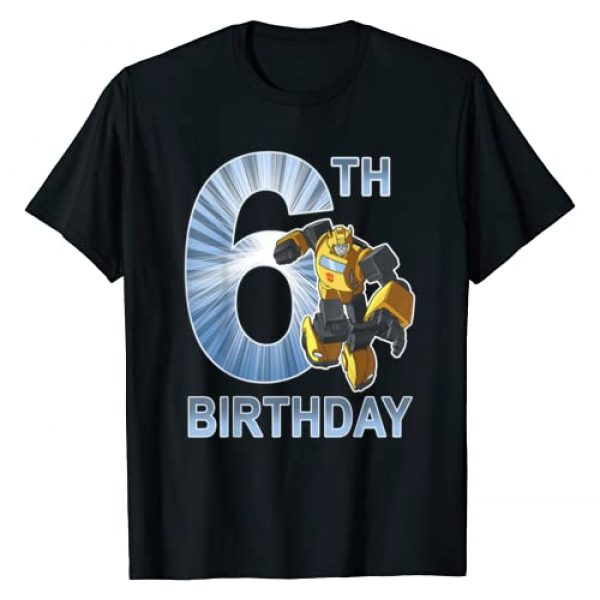 Transformers Graphic Tshirt 1 Bumblebee 6th Birthday T-Shirt