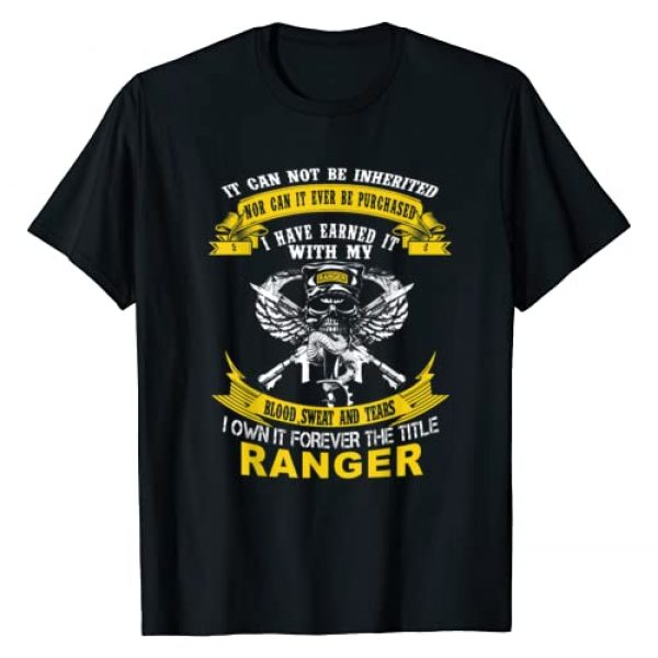 I Own It Forever The Title US Army Ranger Veteran Graphic Tshirt 1 Shirt T-Shirt I Own It Forever The Title US Army Ranger Veteran