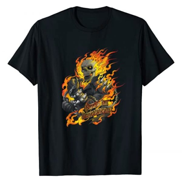 Marvel Graphic Tshirt 1 Ghost Rider Spirit of Vengeance Flaming Skull T-Shirt