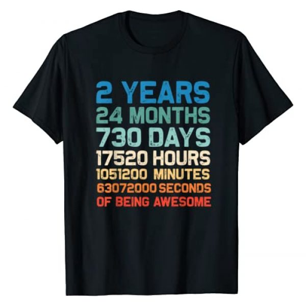 2 Years Old 2nd Birthday Vintage Retro Tee Shirt Graphic Tshirt 1 2 Years Old 2nd Birthday Gift Vintage Retro 24 Months T-Shirt