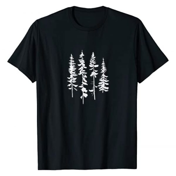Mountain Life Outdoor Pine Tree Tees Graphic Tshirt 1 Skinny Pine Trees, Pine Tree Graphic Tee for Nature Lover T-Shirt