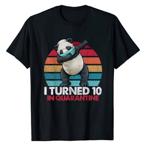 Dabbing Panda Vintage Birthday Shirts By Hannah Graphic Tshirt 1 I Turned 10 In Quarantine Dabbing Panda 10th Birthday Kids T-Shirt