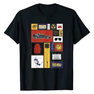 Back To The Future Graphic Tshirt 1 35th Anniversary Icon Panels T-Shirt