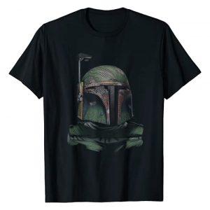 Star Wars Graphic Tshirt 1 Boba Fett Detailed Dotted Portrait T-Shirt