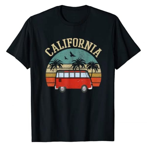 California Beach. Surfing Apparel For Men & Women Graphic Tshirt 1 California Hippie van Outfit Surf CA tee Vintage Surfer gift T-Shirt