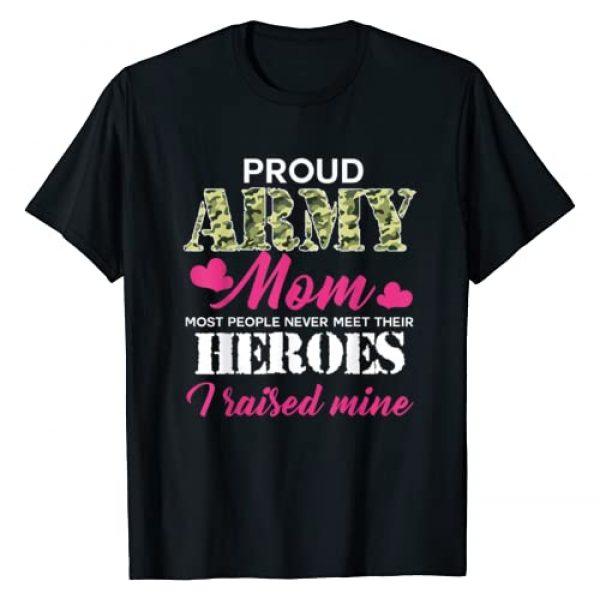 Proud Army MOM T-Shirt Graphic Tshirt 1 Womens Proud Army Mom - Hero Army T-shirt