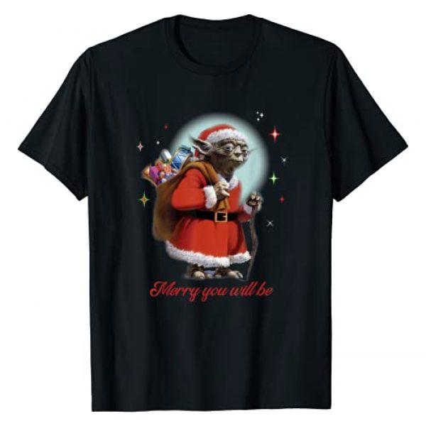 Star Wars Graphic Tshirt 1 Santa Yoda Merry You Will Be T-Shirt