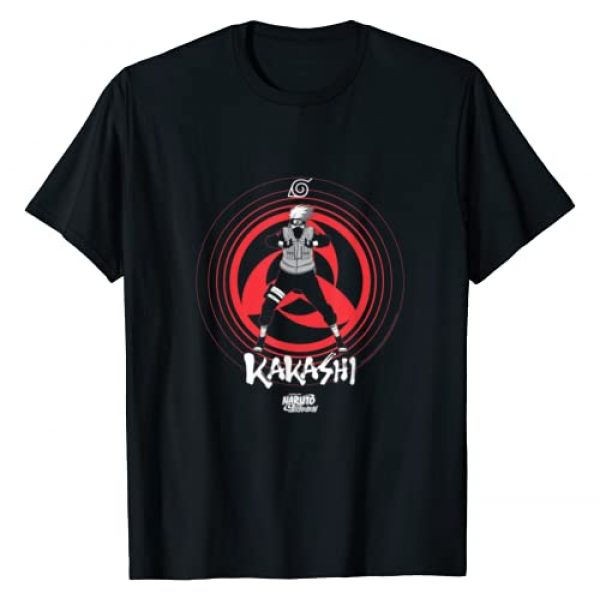 Naruto Graphic Tshirt 1 Shippuden kakashi sharingan eye symbol T-Shirt