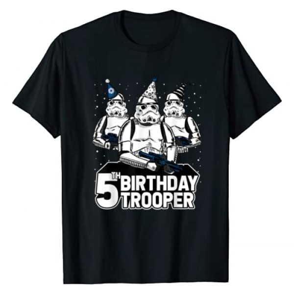 Star Wars Graphic Tshirt 1 Stormtrooper Party Hats Trio 5th Birthday Trooper T-Shirt