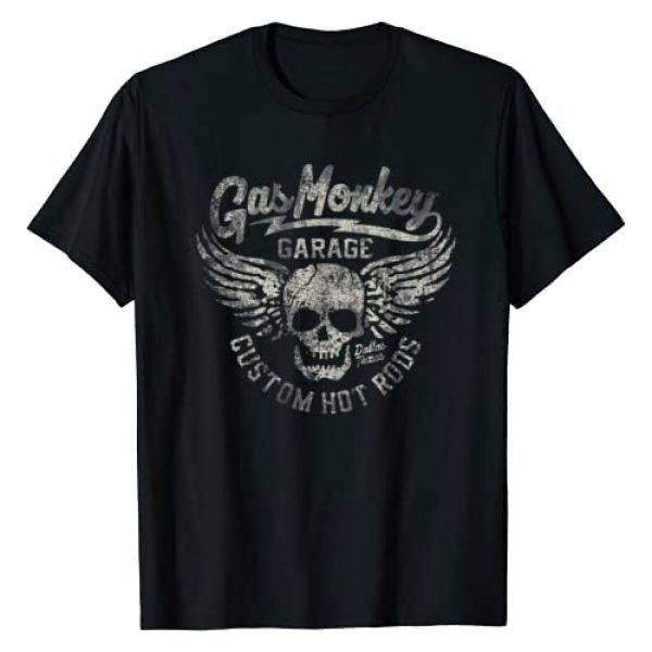 Gas Monkey Garage Graphic Tshirt 1 Skull Wings Custom Hot Rods Logo T-Shirt