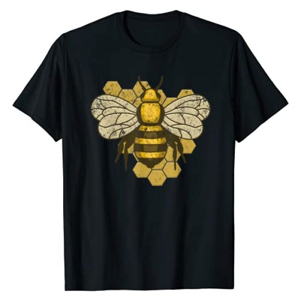Honeycomb Bee Teez Graphic Tshirt 1 Retro Beekeeper Beekeeping Bumblebee Vintage Save The Bees T-Shirt