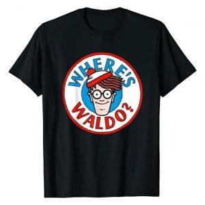 Where's Waldo Graphic Tshirt 1 Head Portrait Circle Logo Graphic T-Shirt