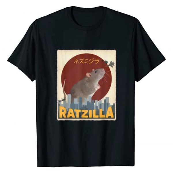 Cute Gifts for Veterinarians and Pet Rat Owner Graphic Tshirt 1 Funny Cute Ratzilla Rat Mouse | Japanese Anime Graphic Gift T-Shirt
