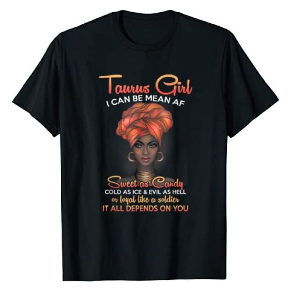 Funny Zodiac Girls Birthday Black Women Gifts Graphic Tshirt 1 Taurus Queens Are Born in April 20 - May 20 T-shirt