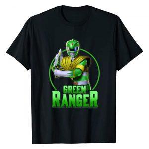 Power Rangers Graphic Tshirt 1 Green Ranger Simple Portrait T-Shirt