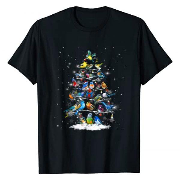 Funny Bird Saying T Shirt Graphic Tshirt 1 Birds Christmas Tree T-Shirt