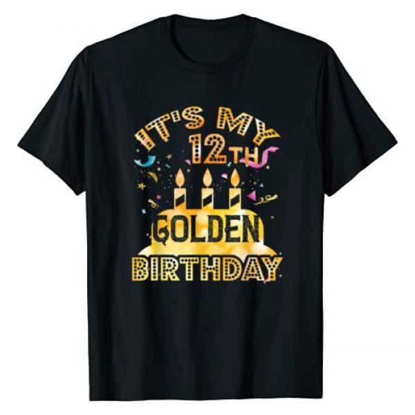 Birthday gift - shirts Graphic Tshirt 1 12th Birthday T-Shirt It's My 12th Golden Birthday Vintage