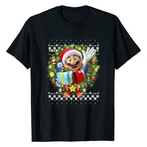 SUPER MARIO Graphic Tshirt 1 3D Christmas Wreath Present Graphic T-Shirt