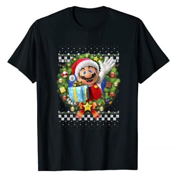 SUPER MARIO Graphic Tshirt 1 3D Christmas Wreath Present Graphic T-Shirt
