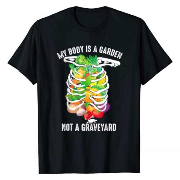 Cool Vegetables In Skeleton Lovers Kale Fan Art Graphic Tshirt 1 My Body Is A Garden Not A Graveyard Veggie Funny Vegan Gift T-Shirt