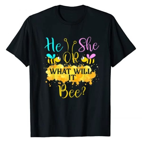 TrendyPull Matching Gender Reaveal Bee Party Graphic Tshirt 1 Gender Reveal What Will It Bee - He Or She T-Shirt