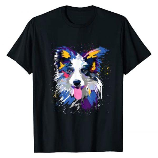 Border Collie Dog Lover Graphic Tshirt 1 Splash Art Border Collie Gifts Border Collie Lover T-Shirt