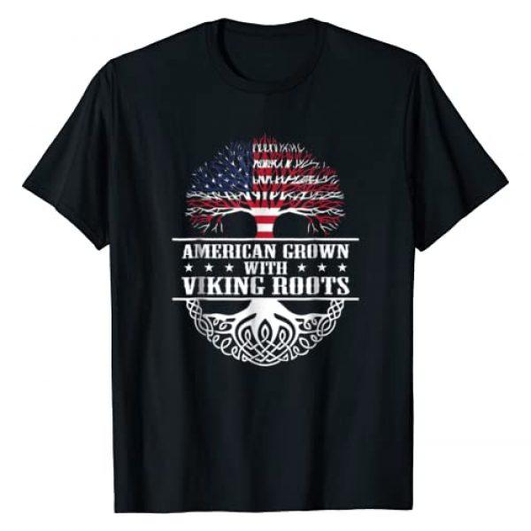 American Viking Roots T-Shirt Graphic Tshirt 1 American Grown Viking Roots T-Shirt