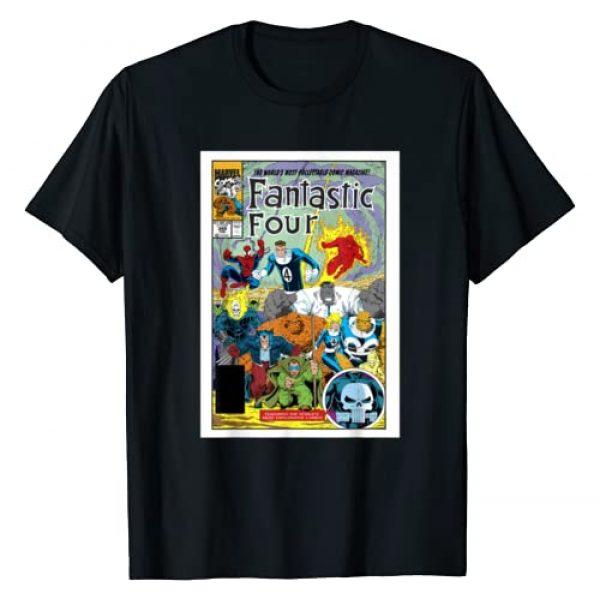 Marvel Graphic Tshirt 1 D23 Exclusive Fantastic Four Vintage Comic Book Cover T-Shirt