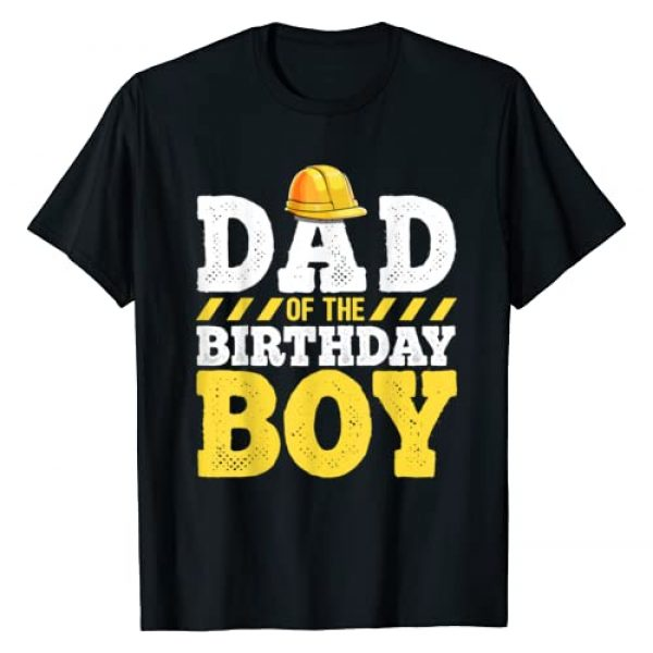 Construction Vehicle Birthday Shirts Graphic Tshirt 1 Dad of the Birthday Boy Construction Birthday Party Hat Men T-Shirt
