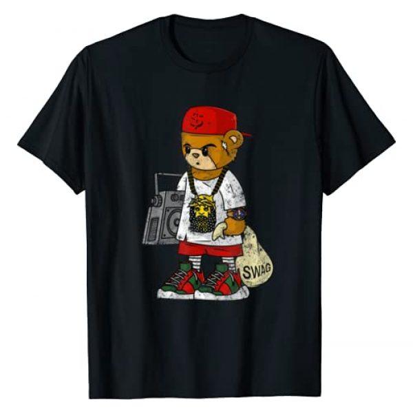Zazzy Hustle 247 Gang Shirts Graphic Tshirt 1 Teddy Bear Rap Hip Hop Lover Clothing Men Hipster Dope Gift T-Shirt