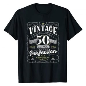 AGED TO PERFECTION Graphic Tshirt 1 Vintage 50th Birthday Shirt For Him 1970 Aged To Perfection T-Shirt
