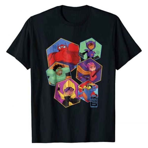 Disney Graphic Tshirt 1 Big Hero 6 TV Series Group Six Hex Graphic T-Shirt