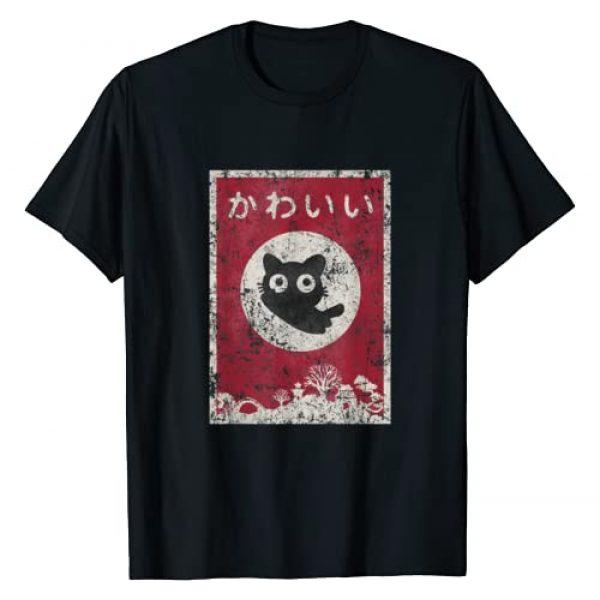 Suburbia Fun Time Tees Graphic Tshirt 1 Kawaii cat Japanese black anime cat T Shirt T-Shirt