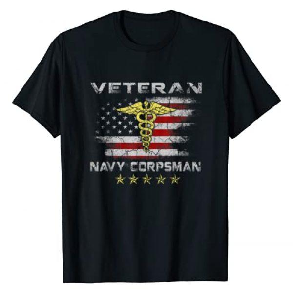Navy Corpsman Tee Shirt gifts Graphic Tshirt 1 Proud Veteran Navy Corpsman T-shirt Gifts for Men T-Shirt