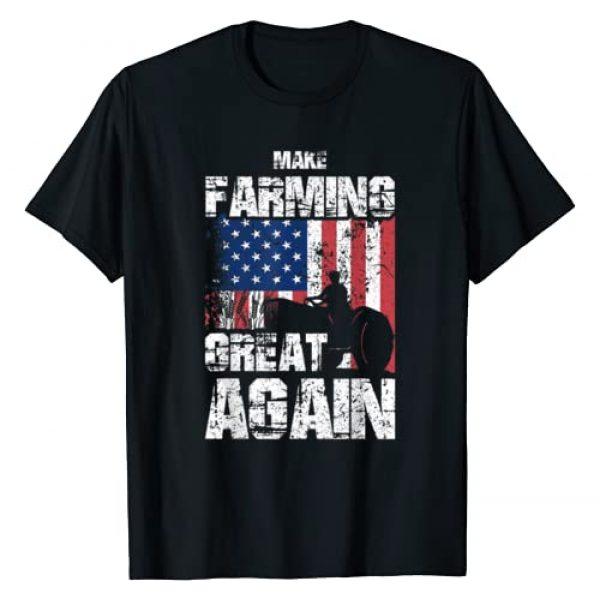 Farming By Design Tee Company Graphic Tshirt 1 American Flag Make Farming Great Again Farm Gift For Farmers T-Shirt