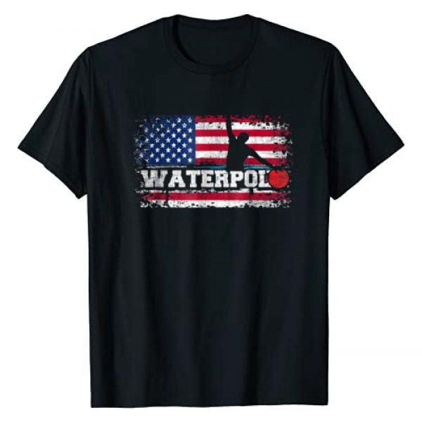 American Water Polo Team T-Shirts Water Polo Tees Graphic Tshirt 1 Vintage American Flag Water Polo T Shirt USA Water Polo Gift
