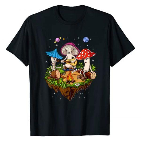 Magic Mushrooms Psychedelic Clothing Graphic Tshirt 1 Hippie Magic Mushrooms Psychedelic Psilocybin Fungus Shrooms T-Shirt