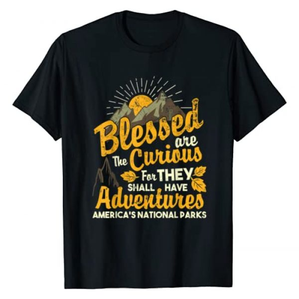 National Parks T-shirt Graphic Tshirt 1 Blessed are The Curious - National Parks T-shirt