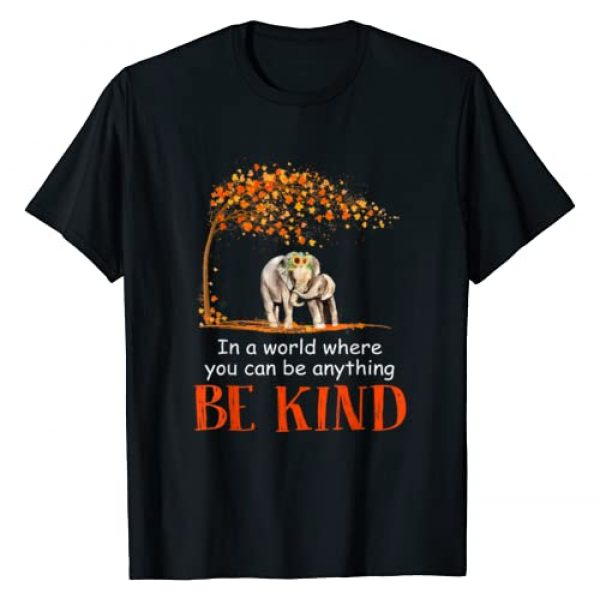 Unknown Graphic Tshirt 1 In A World Where You Can Be Anything Be Kind Elephant T-Shirt