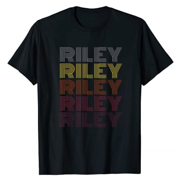 Graphic Tee Graphic Tshirt 1 First Name Riley Retro Pattern Vintage Style T-Shirt