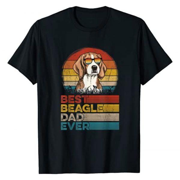 Retro Vintage Beagle Dog Dad Ever Gifts Graphic Tshirt 1 Dog Vintage Best Beagle Dad Ever Gifts Lover T-Shirt