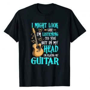 Funny Guitar Shirt & Tees Co Graphic Tshirt 1 Guitar Shirt Funny I Might Look Like I'm Listening To You T-Shirt